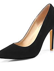 Women's Heels Spring Summer Fall Fleece Office & Career Dress Casual Stiletto Heel Black Red Green