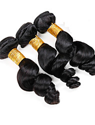 Vinsteen Loose Wave 3 Bundles Lot Malaysian Hair Extension Double Weft 100% Human Hair Weft Natural Wave 8A Good Quality