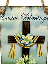 Wooden Easter cross listing commemorate the resurrection of Jesus cross wooden household hangs Taiwan