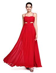 2017 TS couture® выпускного вечера официально платье вечера - открыть обратно Онлайн бретельках длиной до пола шифон с плетения кружева