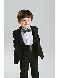 Cotton Polester/Cotton Blend Ring Bearer Suit - Six-piece Suit Pieces Includes  Jacket Shirt Pants Waist cummerbund Bow Tie Suspenders