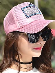Summer Fashion Wild NY Letter Drill Sequins Net Hat Women Outdoor Sports Baseball Cap Sun Hat