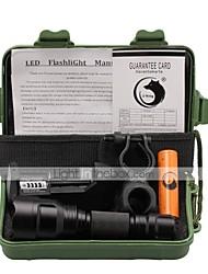 Lanternas LED Luzes de Bicicleta LED 1000 Lumens 3 Modo Cree XM-L T6 18650.0 Foco Ajustável Superfície Antiderrapante EmergênciaCampismo