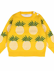 Baby Girl/Girl's Pineapple Patterned Cotton Sweater