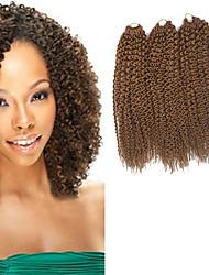 Île Twist Pré-boucle Tresses crochet Extensions de cheveux 16Inch Kanekalon 1 Package For Full Head Brin 148g gramme Braids Hair