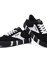 Herren-Sneaker-Lässig-PelzAndere-Weiß Blau Rot-Weiss Schwarz-Weiss