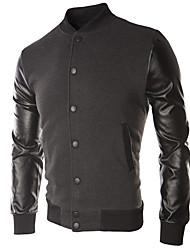 Sweatshirt Hommes Décontracté / Quotidien Sportif Actif Couleur Pleine Col Arrondi Non Elastique Coton Manches Longues Automne