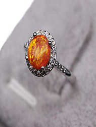 Ring Gemstone Copper Fashion Orange Jewelry Daily Casual Sports 1pc