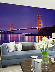 JAMMORY Bedroom Living Room Sofa TV Background Wallpaper Retro Color Lighting City Night Scene Background Large Wall XL XXL XXXL