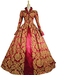 Steampunk®Queen Elizabeth I / Tudor Gothic Jacquard Dress Royal Queen Ball Gown Theatrical Women Costume
