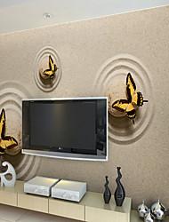 JAMMORY Simple Butterfly Beach Wallpaper Personality Wallpaper Mural  Wall Covering Canvas Material Golden Church XL XXL XXXL