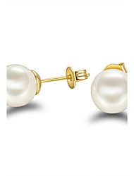 Stud Earrings Pearl Pearl Sterling Silver Gold/White Silver-Black Jewelry Wedding Party Daily Casual 1 pair