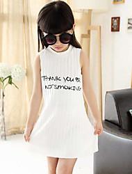 Summer Girls Letters Vest Bag Printed Cotton Dress