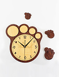 Modern Creative Cartoon Cute Big Feet Print DIY Mute Wall Clock