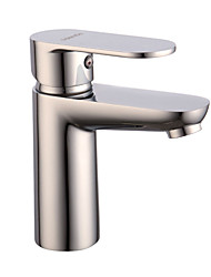 Contemporary Brass Basin Mixer With Chrome Finish