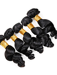 Vinsteen Brazilian Virgin Hair Loose Wave 5 Bundles 100g/pcs Unprocessed 8A Peruvian Indian Malaysian Remy Human Hair Weave Natural Color Double Weft