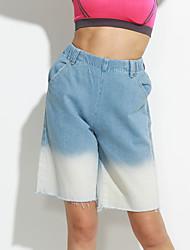 Pantalon Aux femmes Jeans simple Coton Micro-élastique