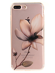 Назначение iPhone 8 iPhone 8 Plus Чехлы панели IMD Прозрачный С узором Задняя крышка Кейс для Цветы Мягкий Термопластик для Apple iPhone