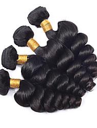 Человека ткет Волосы Малазийские волосы Свободные волны 6 месяца 4 предмета волосы ткет
