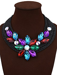 Women's Statement Necklaces Alloy Flower Bohemia Statement Jewelry White Black Yellow Blue Assorted Color JewelryWedding Party Birthday