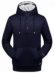 Men's Plus Size Casual/Daily Going out Active Simple Hoodie Solid Crew Neck Inelastic Cotton Acrylic Polyester Long Sleeve Spring Fall