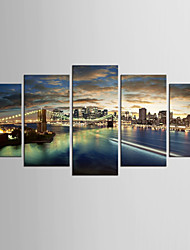 Canvas Set Landscape Still Life Modern Realism,Five Panels Canvas Any Shape Print Wall Decor For Home Decoration