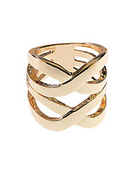 Jewelry Women Alloy Women Golden Hollow Ring