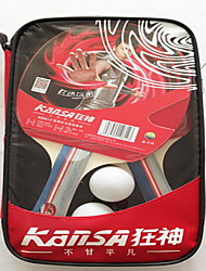 3 Stars Table Tennis Rackets Rubber Long Handle Raw Rubber 2 Rackets 3 Table Tennis Balls Indoor Performance Practise Leisure Sports