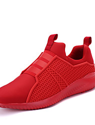 Running Shoes 2017 New Arrival Men's Sneakers Comfort Sports Shoes  Outdoor Athletic Casual Flat Heel Black / Blue / Red
