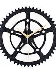 Modern Creative Flash Black Sand Gear Mute Wall Clock