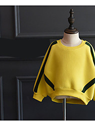 Girl Casual/Daily Sports School Solid Hoodie & Sweatshirt,Rayon Blended Cotton Winter Spring Fall Long Sleeve Regular
