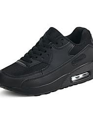Damen-Sneaker-Lässig-PU-Flacher Absatz-Komfort-Schwarz Grün Rot