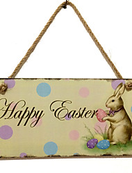 Wooden Easter bunny for commemorate the resurrection of Jesus live in wooden rabbit design hangs Taiwan