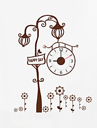 Modern Style Fashion Creative Tree Mute Wall Clock