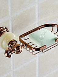 Euro Style Jade & Brass Gold Bathroom Accessories Soap Dishes / Soap Holder/Soap Case Home Decoration