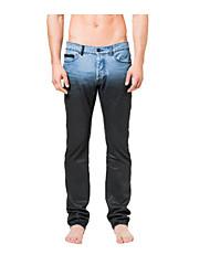 Hommes Droite Jeans Pantalon,Vintage Décontracté / Quotidien Couleur Pleine Taille Basse fermeture Éclair Viscose Micro-élastique Sangle