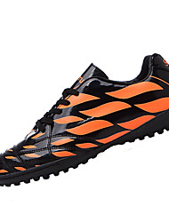 Boy's Athletic Shoes Spring Fall Other First Walkers PU Athletic Flat Heel Ruffles Lace-up Orange Light Green Royal Blue Soccer