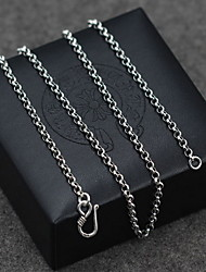Men's Women's Pendant Necklaces Chain Necklaces Collar Necklace Jewelry Single Strand Pearl Sterling Silver Basic Vintage Costume Jewelry