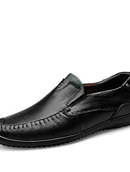 Men's Loafers & Slip-Ons Driving Shoes Comfort Motorcycle Boots Light Soles Nappa Leather Fall Winter Casual Office & Career Hiking