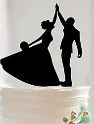 Custom couples acrylic wedding cake inserted fine decoration birthday cake inserted card