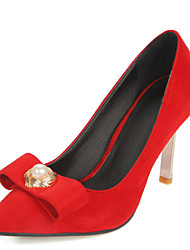 Women's Shoes Stiletto High Heel Pointed toe Bowknot Pearl Slip On Pump More Color Available
