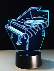 1pc de piano estéreo colorido visão levou lâmpada de luz da lâmpada 3d colorido gradiente de acrílico visão lâmpada noite