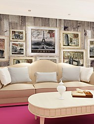 JAMMORY TV Living Room Large Fresco TV Wall Background Wallpaper Mural 3d Wallpaper Bedroom Vintage Wooden Photo Wall XL XXL XXXL