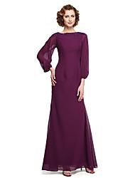 2017 Lanting bride® uma linha mãe do vestido de noiva - elegante tornozelos 3/4 comprimento da manga chiffon renda