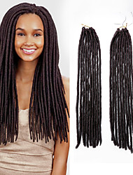 Uncinetto dreadlocks Extensions per i capelli 18 Kanekalon 20 filo 90 grammo capelli Trecce
