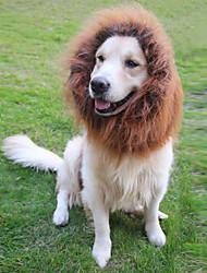 Gatos / Cães Fantasias / Perucas Preto / Branco / Marrom Roupas para Cães Verão / Primavera/Outono Animal Fantasias / Leão