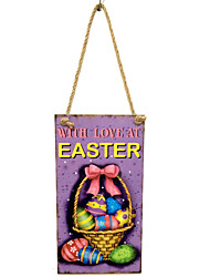Amazon ebay hot style to commemorate the resurrection of Jesus wooden color listed Hangs Taiwan wooden Easter eggs