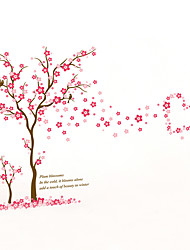 Wall Stickers Wall Decals Style Big Tree Plum Blossom PVC Wall Stickers