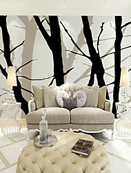 JAMMORY Art Deco Wallpaper For Home Wall Covering Canvas Adhesive Required Mural Black Branch Background XL XXL XXXL