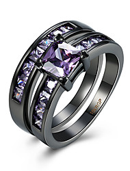 Ring AAA Cubic Zirconia Zircon Copper Titanium Steel Tungsten Steel Simulated Diamond Purple Jewelry Daily Casual 1pc